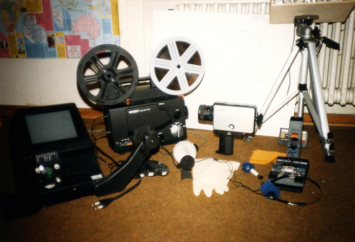 Erstes Filmequipment 1983