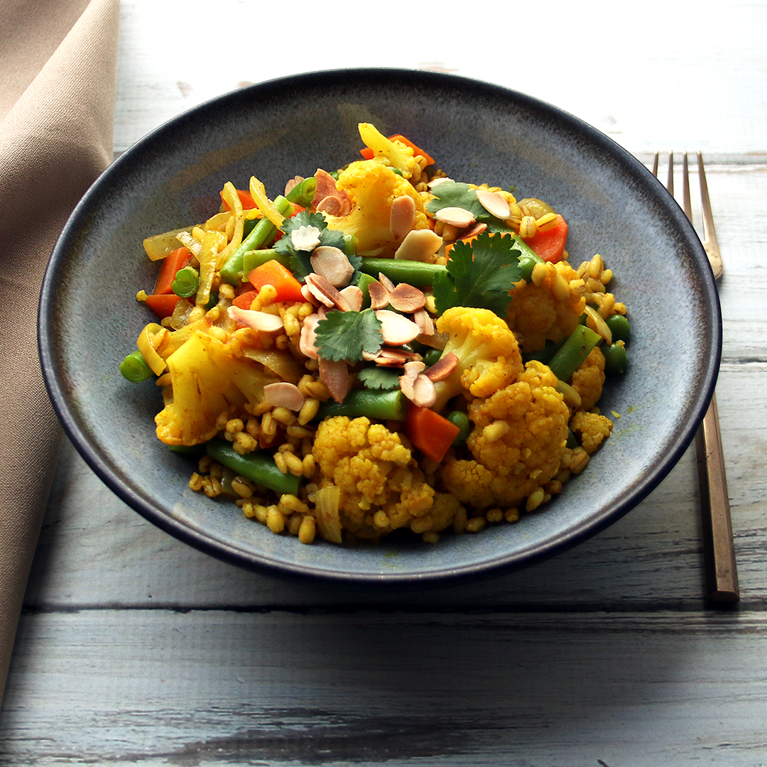 Mixed Vegetable and Pearl Barley Curry