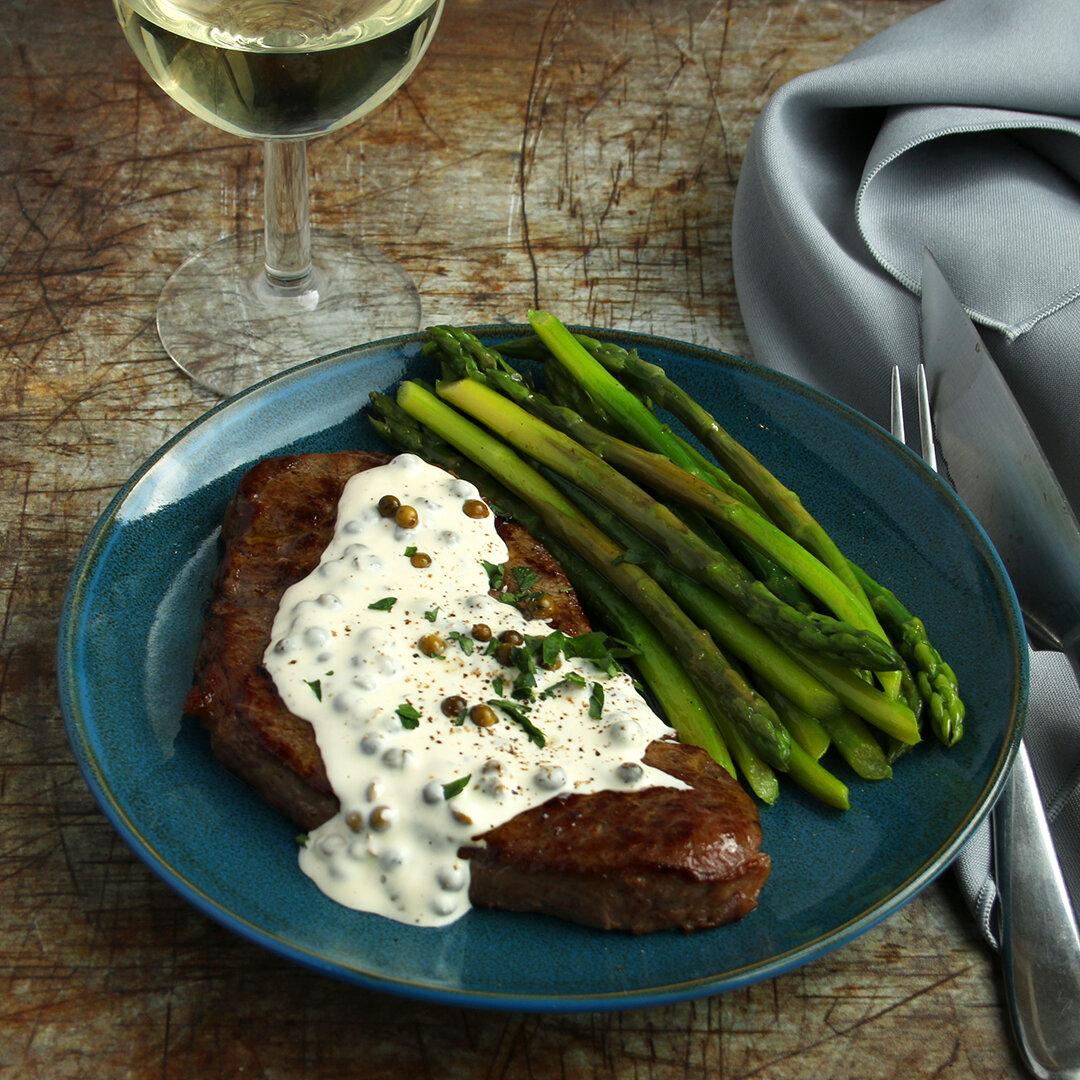 Classic Steak and Peppercorn Sauce
