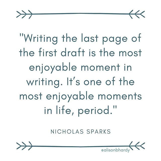 Still reveling in my finished first draft.😀 But I'm curious: Do you start writing something new right away or wait? How long? Or are you more focused on the second draft of the book you just finished? How long do you wait to start working on that? . . . . . . . #readytowrite #notsurewhat #writetip #writingtips #novelwriting #creativewriting #writinghack #writinghacks #dailyquote #quoteoftheday #writerinspiration #firstdraft #writersofig #writingcommunity #authorlife #amwriting #authorofinsta #writercommunity #writerslife #igauthors #authorsofinstagram
