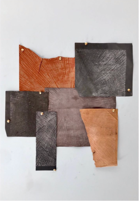 Chris Soal, Each of us is a centre of the Universe. 2019  Eroded sandpaper of varying grits  Monoprint  R4 550