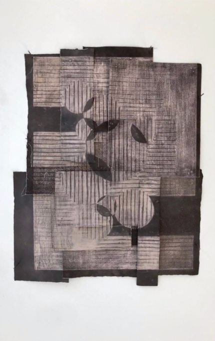 Chris Soal, A Heart of Stone is a Heart Alone. 2019  Eroded sandpaper of varying grits.  Monoprint  R4 550