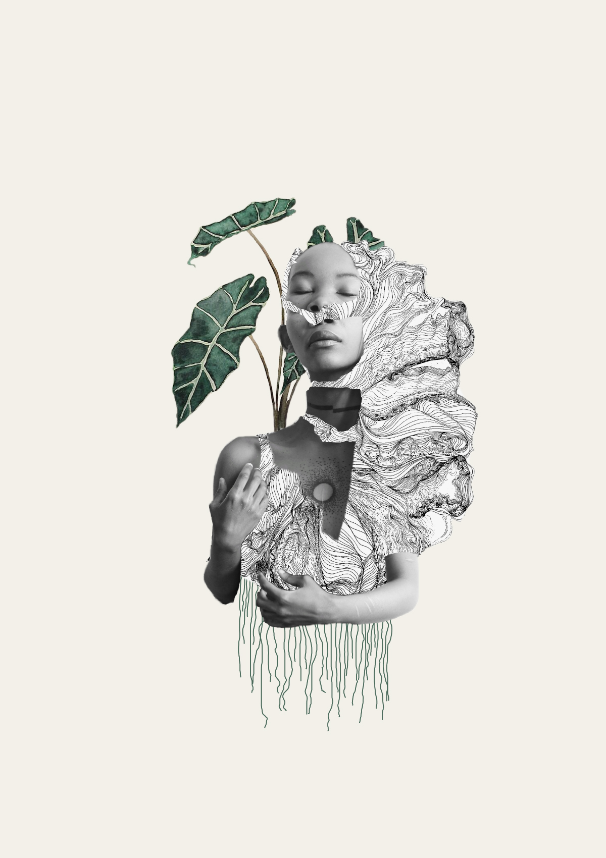Keneilwe Mokoena, #8019, 2019  Digital Collage  148 x 210 mm  Ed: 10  R 2100 (Unframed)