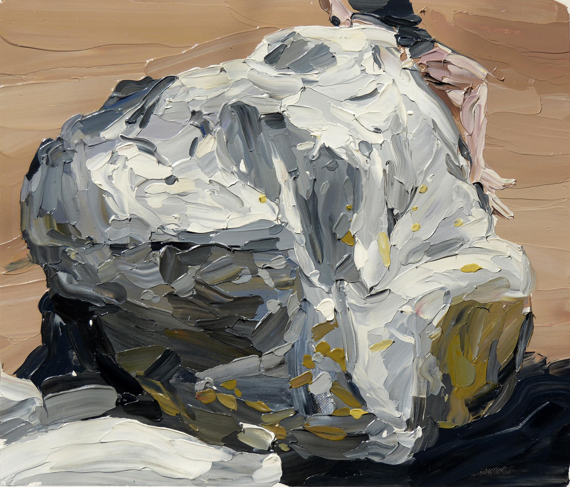 Fourie Heidi, Boulder, 2017  Oil on Draft Film  21cm x 25cm  Framed – R 5800