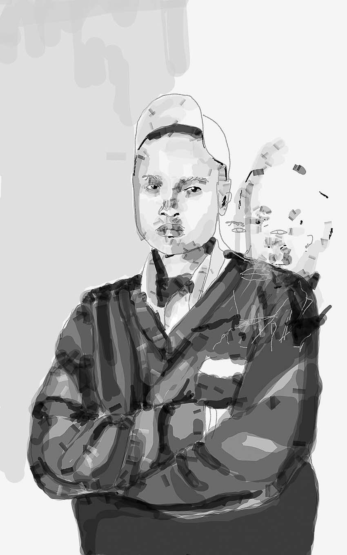 Zanele Muholi and Banele Khoza, Faces and Phases, 2016  Digital Drawings printed on Hanhemuhle Paper  42cm x 30cm  Framed – R10000 each (Edition 1)