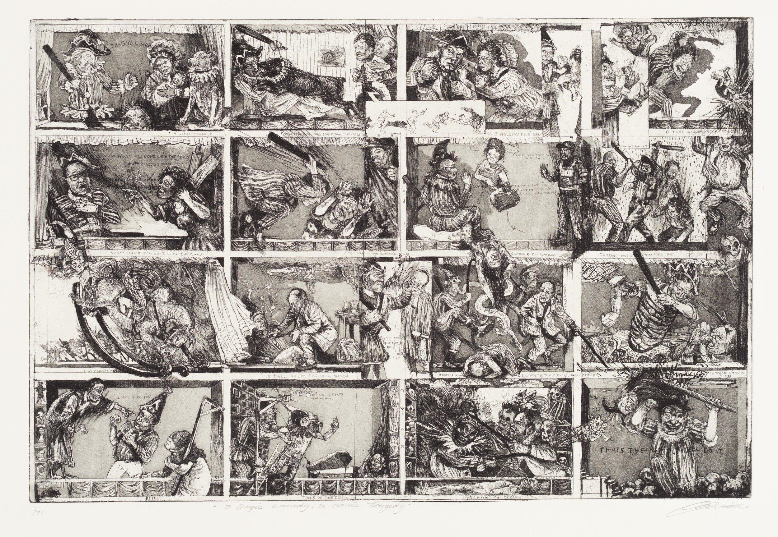 Victor Diane, A Tragic Comedy, 2018  edition of 25,  Framed – R 9200  Unframed – R8000