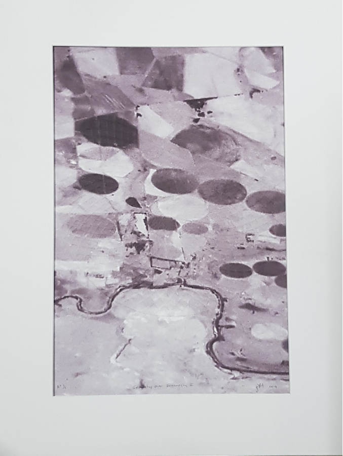 Froud Gordon , Landscape Near Vereeniging with Geometry II ,2018  Digital and Embossing on Fabriano  56cm x 75cm  Framed- R8500