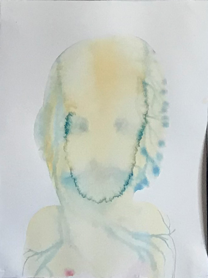 """Artist:  Ann Gollifer  Title:  """"Someone like you""""  Medium:  Watercolour on paper  Year completed:  2018  Size:  3 Watercolour paintings on 21.0 x 29.7cm sized sheets, installation variable Framed price:  dependent on cost of frames.  Unframed price of each painting in set of 3 :  SOLD"""