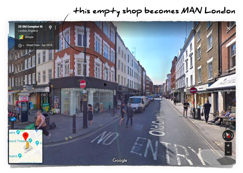 MAN London, 25 Old Compton Street, London, W1D