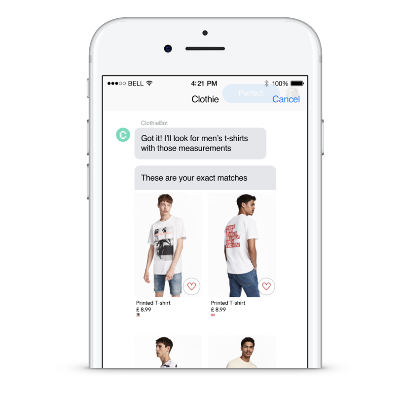 The Ultimate Vision… Clothie in the Cloud no app just tech that plugs - Facebook Messenger, WhatsApp etc etc…
