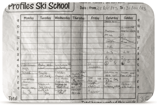 A typical 35 hour week teacher skiing for £2 an hour around A-levels!