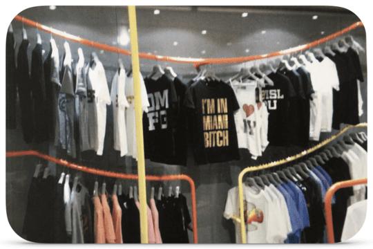 Dan King's First Range of Clothes in Harvey Nichols, Knightsbridge, London.