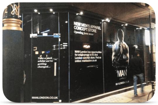 Dan King's first retail menswear clothes store Soho, London
