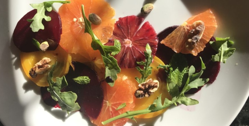 Citrus, Beet, Pistachio, Walnut, Arugula