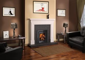 Ariel inset stoves are available in 5kW output with either glass or steel door & frame