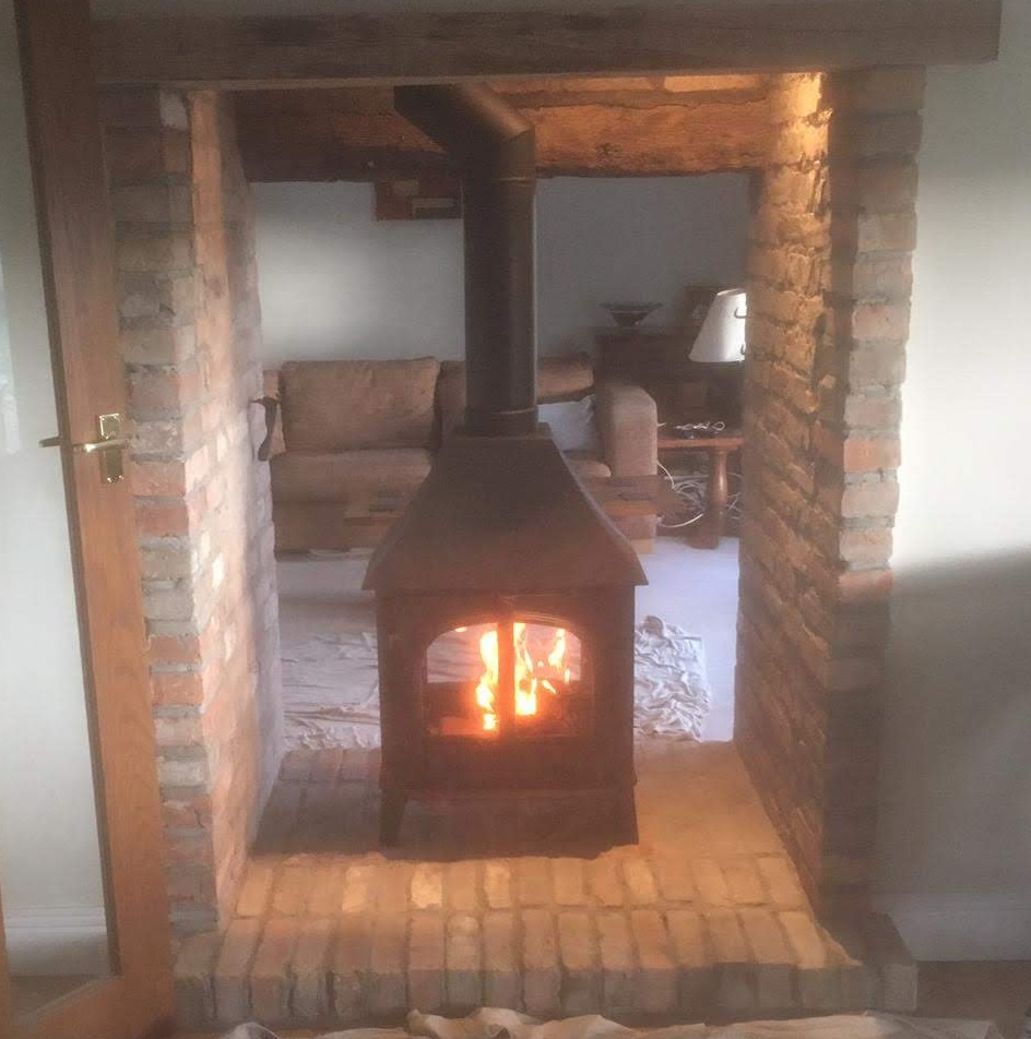 Double sided stove installation