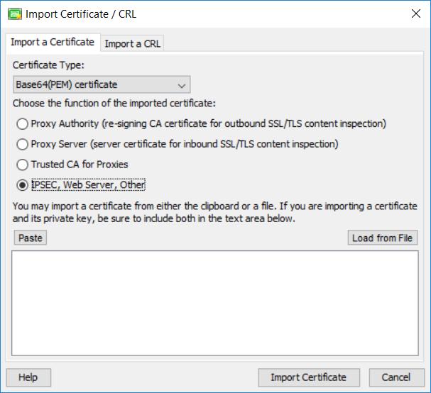 Watchguard Import Certificate CRL