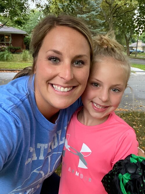 Screen Free Hour: uMap™ Manager, Danielle Bouwhuis, gets away from work to take a walk  with her daughter.
