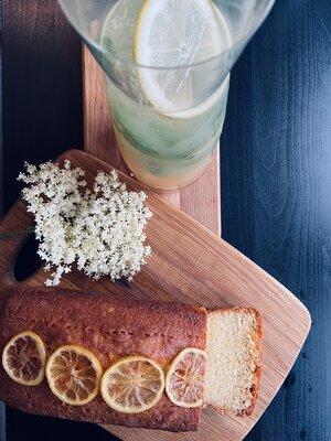 Elderflower and loaf.JPG