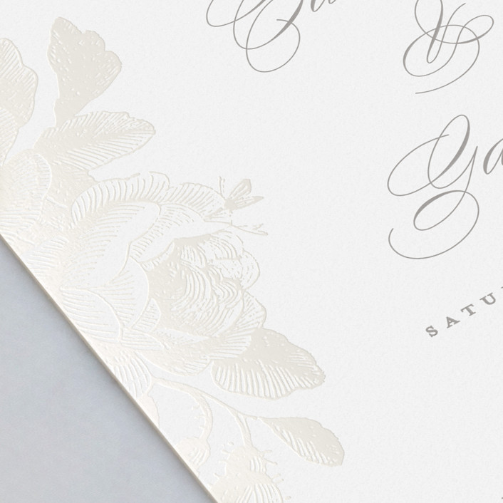 The Botanical Collection - Featured Design: Idyllic, a floral-etched inspired design, using Minted's new Gloss-Press.™