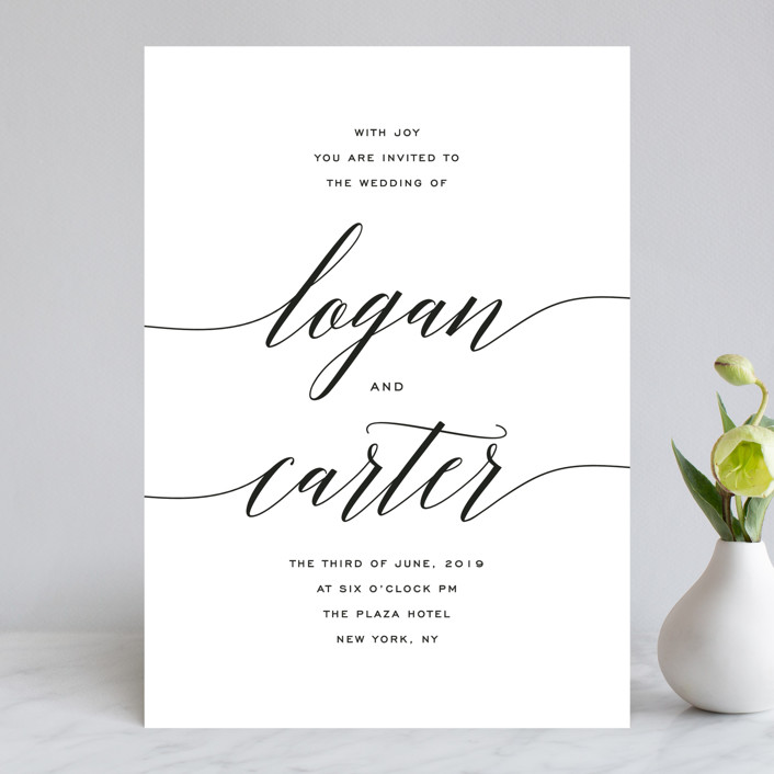 The Minimalist Collection - Featured Design: Someone Like You, a minimalist calligraphy wedding suite, perfect for a refined and simple wedding.