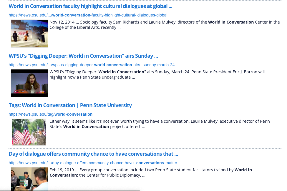 IN THE NEWS   A collection of articles published about our work in a variety of news sources.