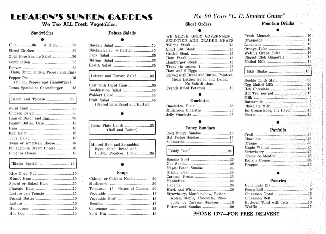 LeBaron's Sunken Garden's Menu.png