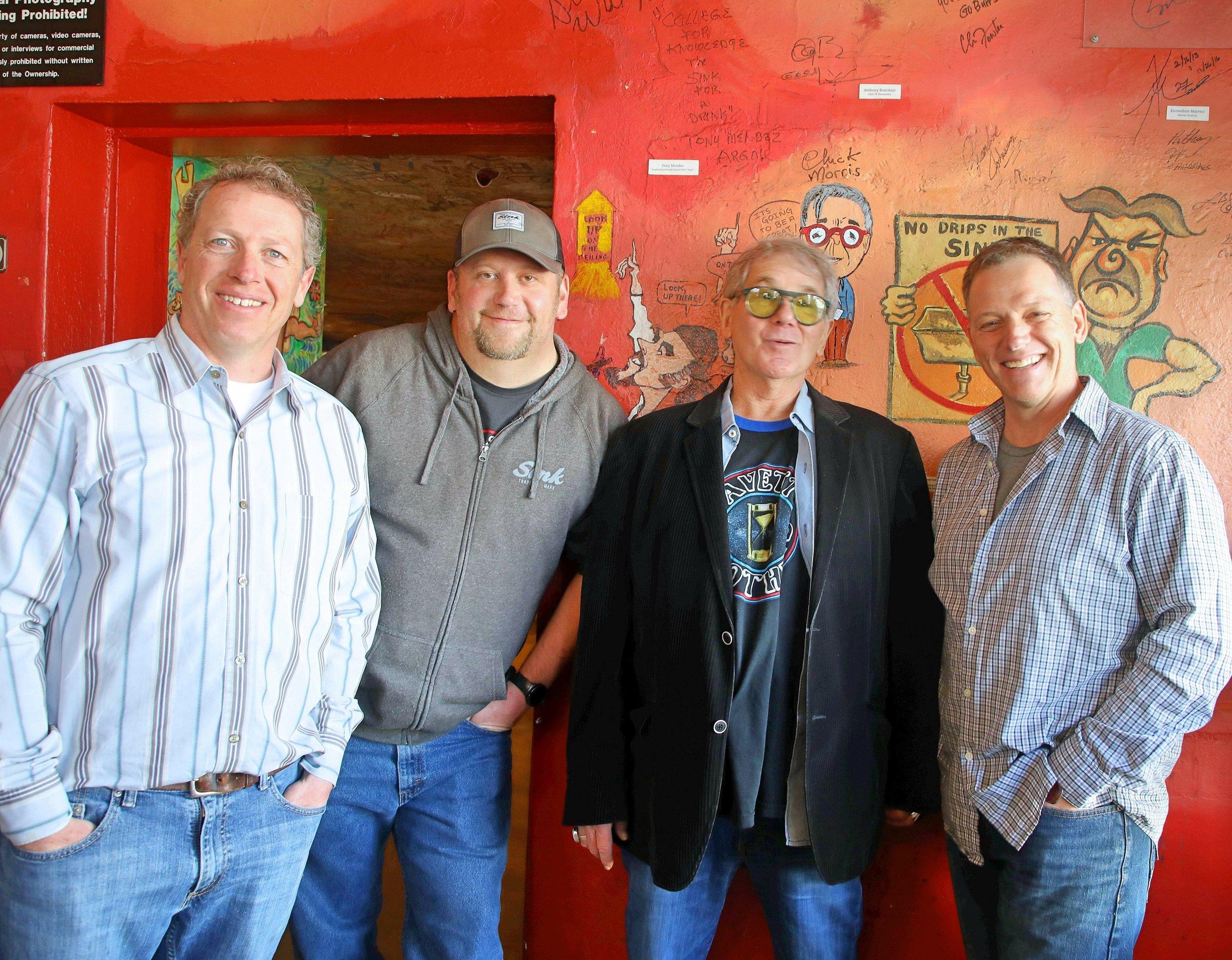 From left to right: Owners, Chris Heinritz, Tell Jones, Chuck Morris, and owner, Mark Heinritz
