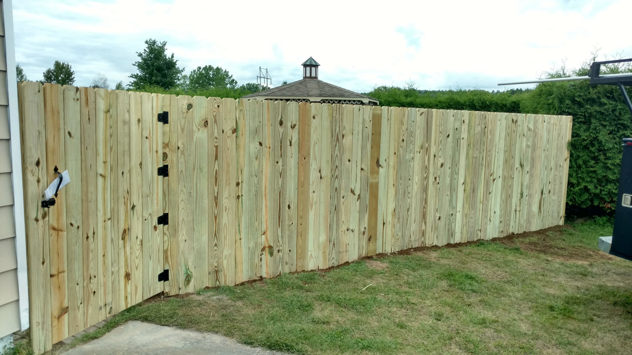 Wooden Stockade Fence