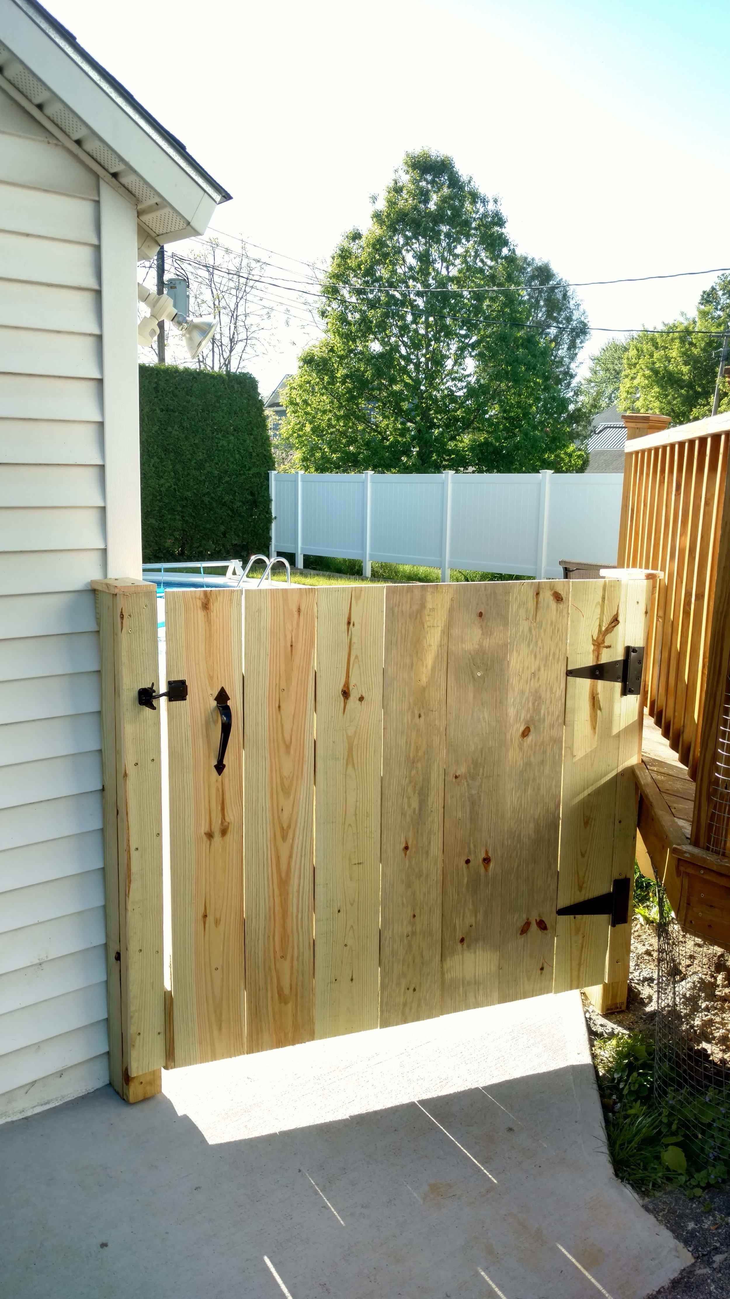 Wood Gate Enclosure