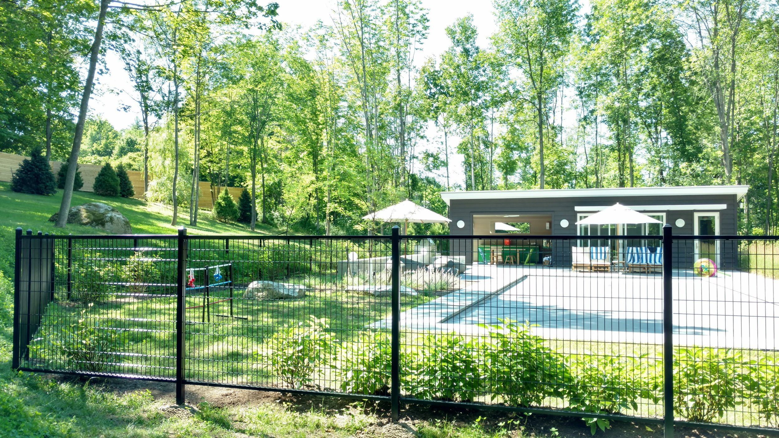 Wrought Iron Fence Pool Enclosure