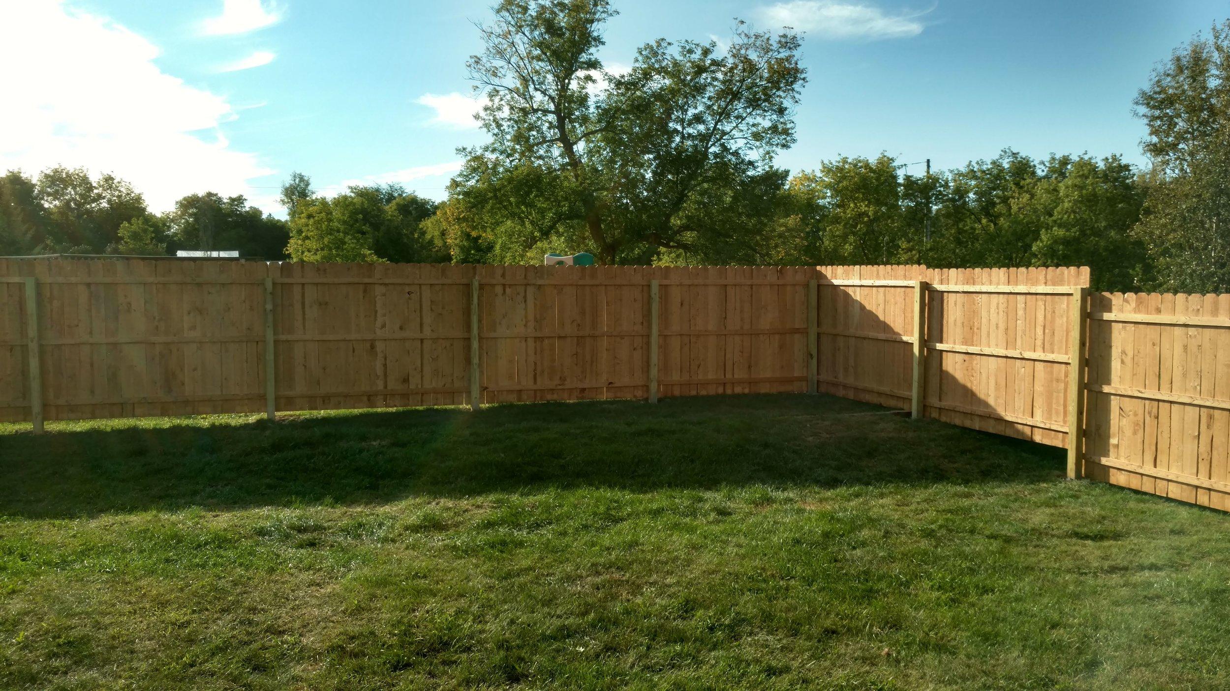 Wood Stockade Fence