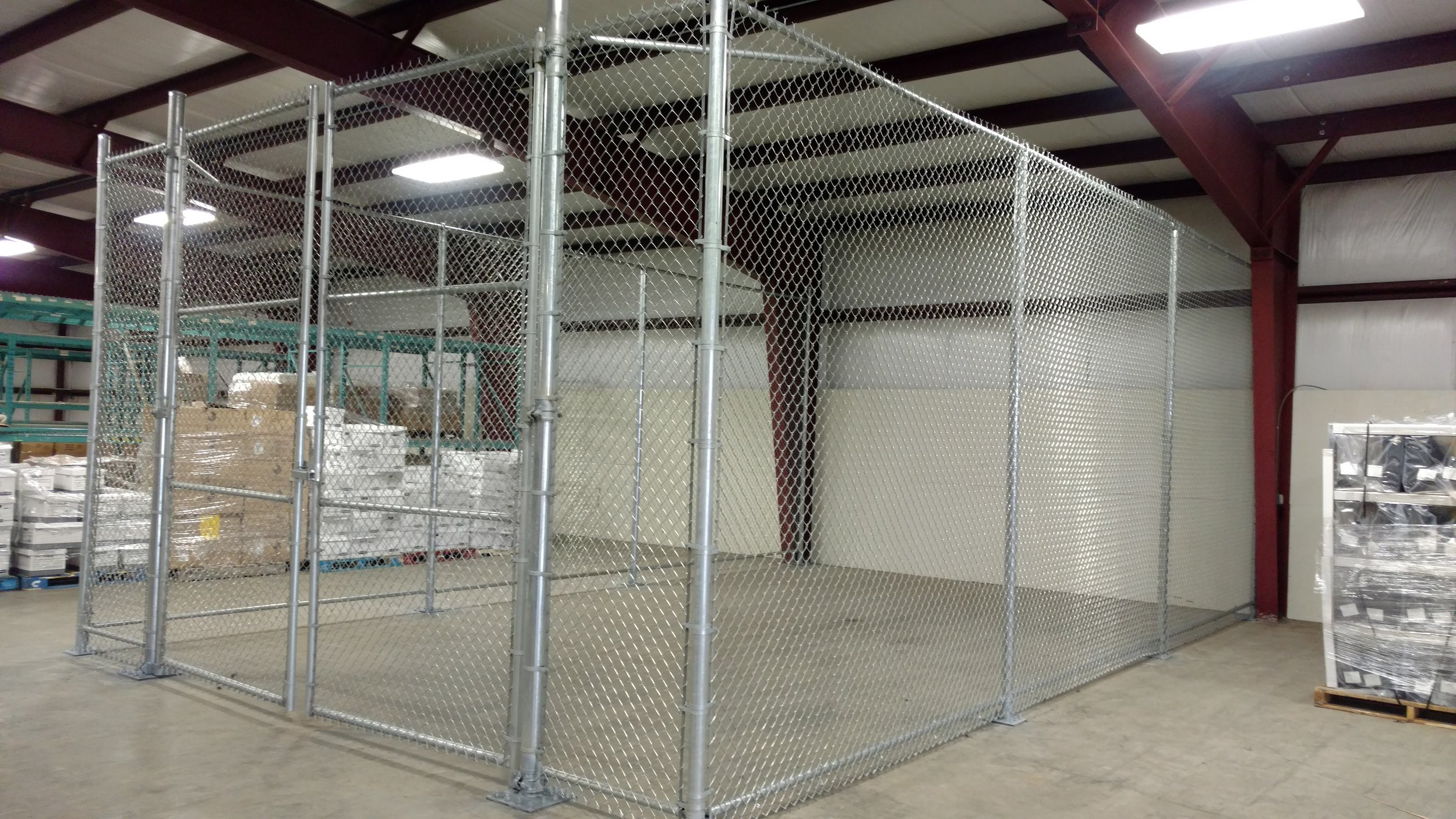 Chain Link Commercial Enclosure