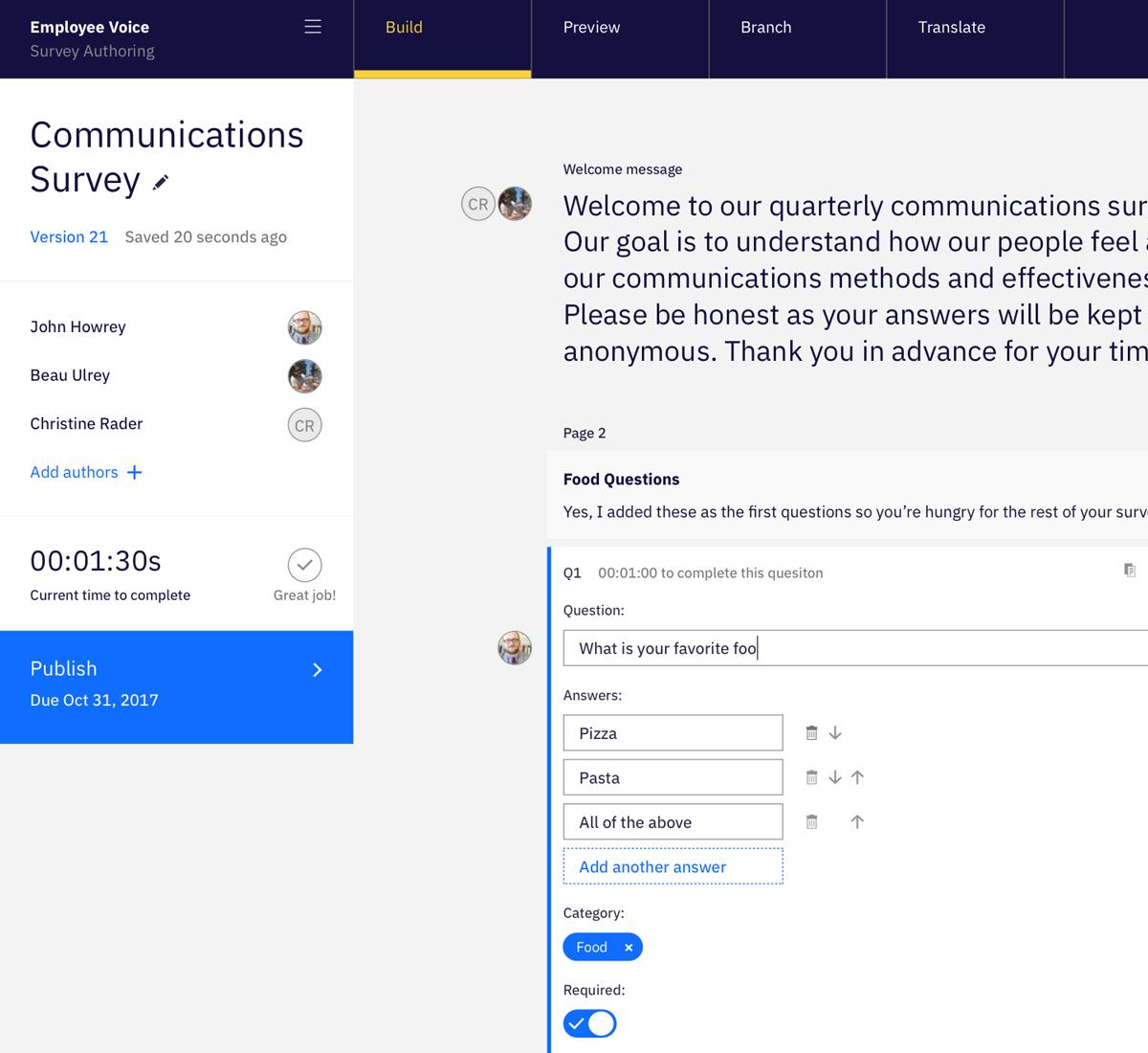 Survey Authoring