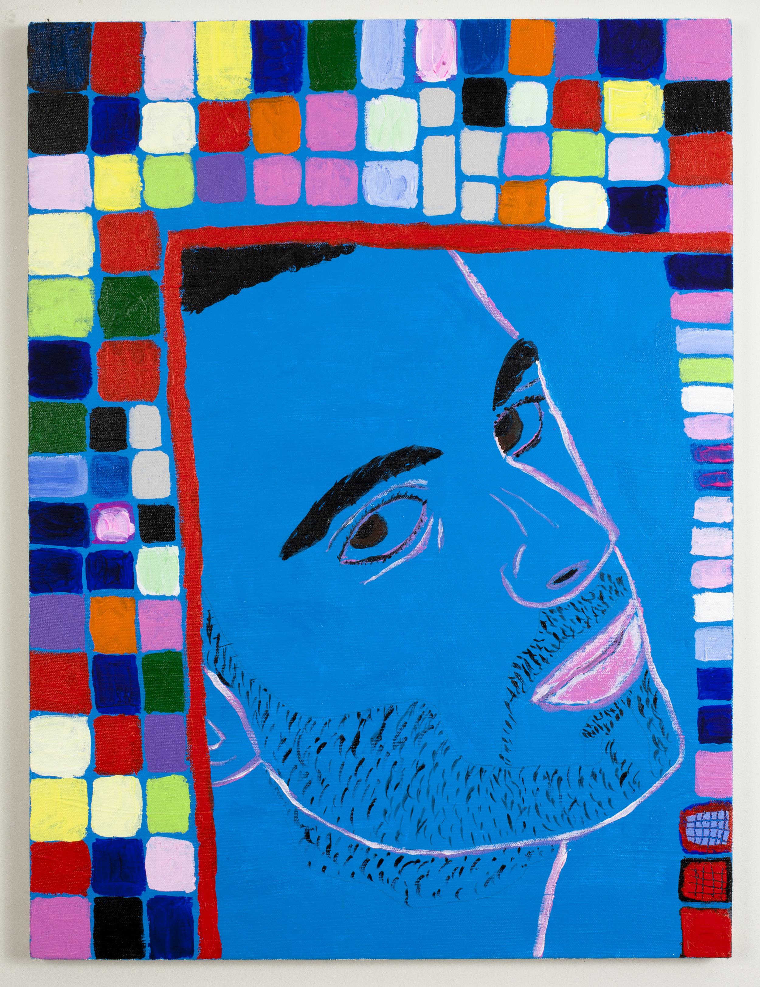 Blue Stranger with Mosaic Background  (2011)