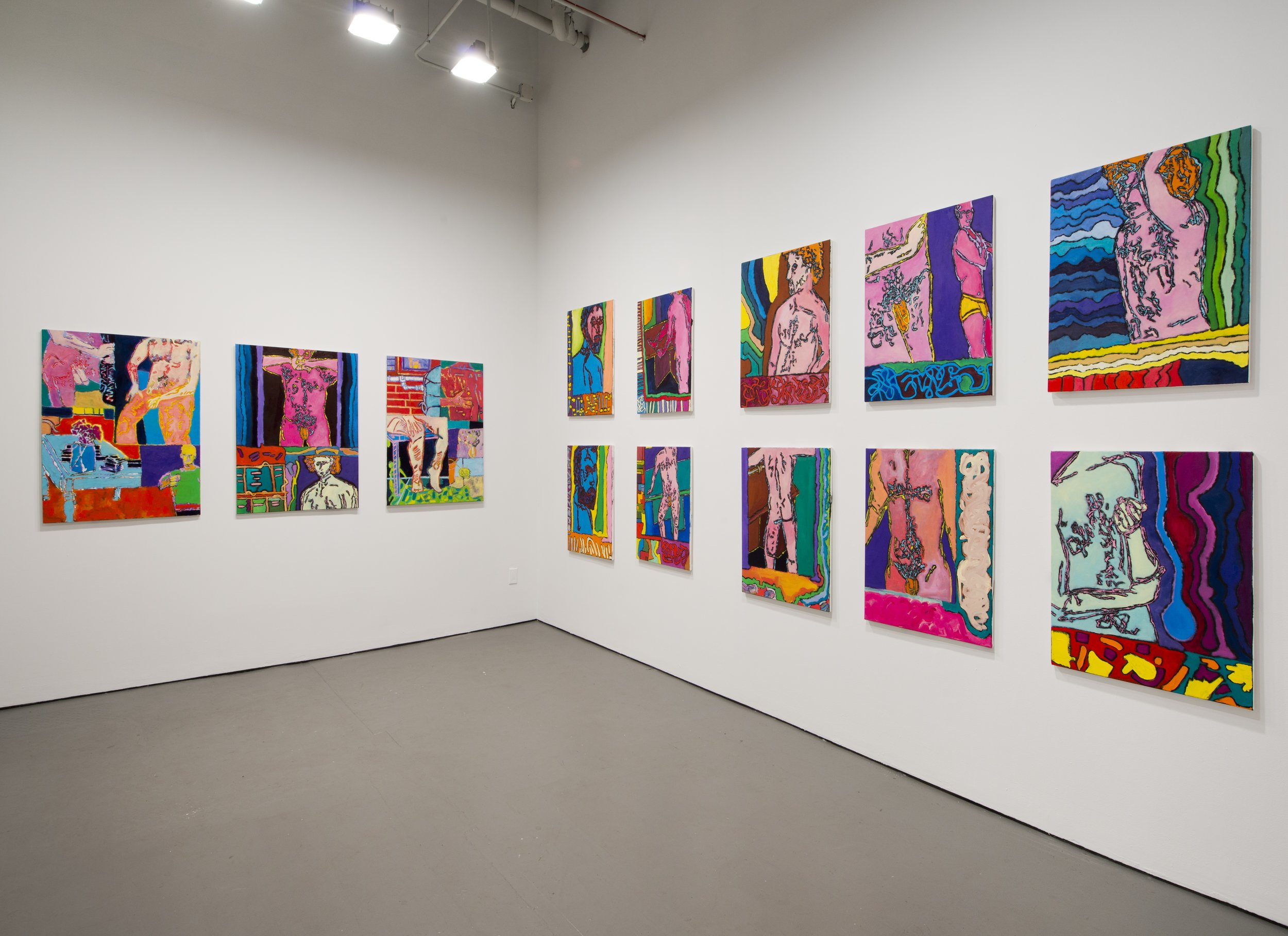 Installation shot, solo exhibition at White Columns, New York (2012)