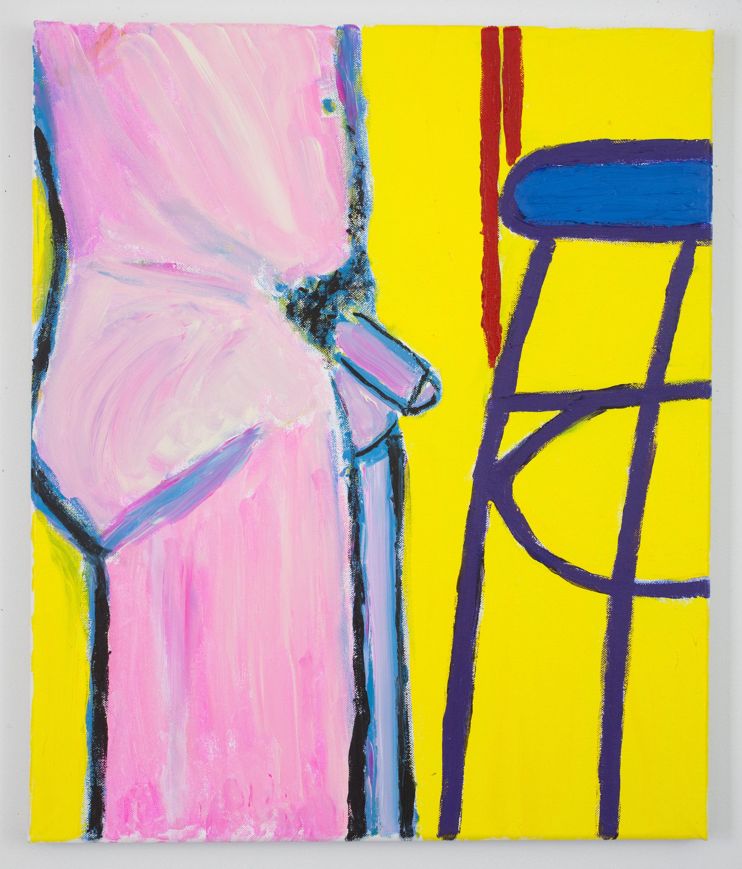 Nude Self-Portrait with Furniture  (2011)