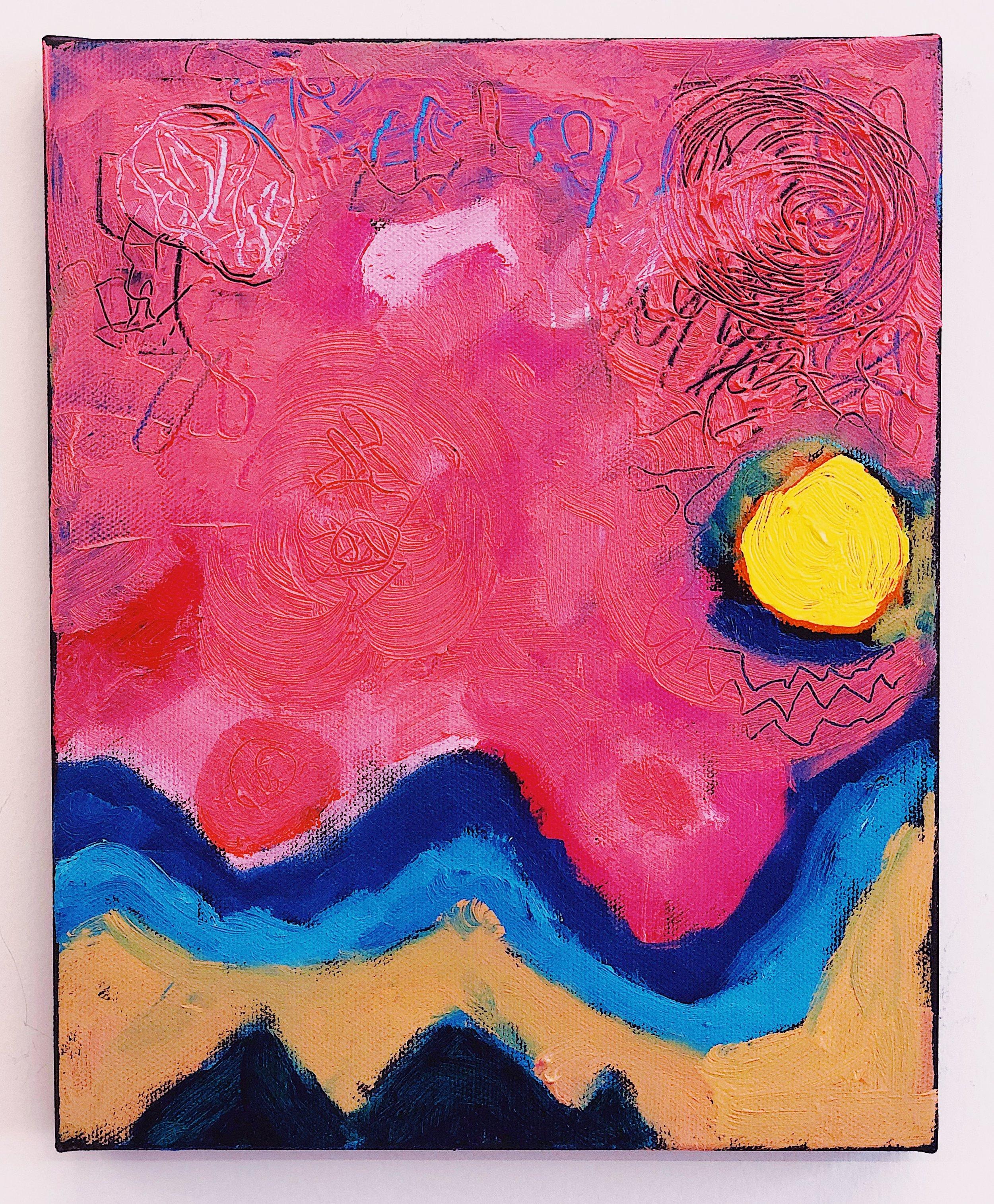 Pink Sky with Undulating Ground  (2016)