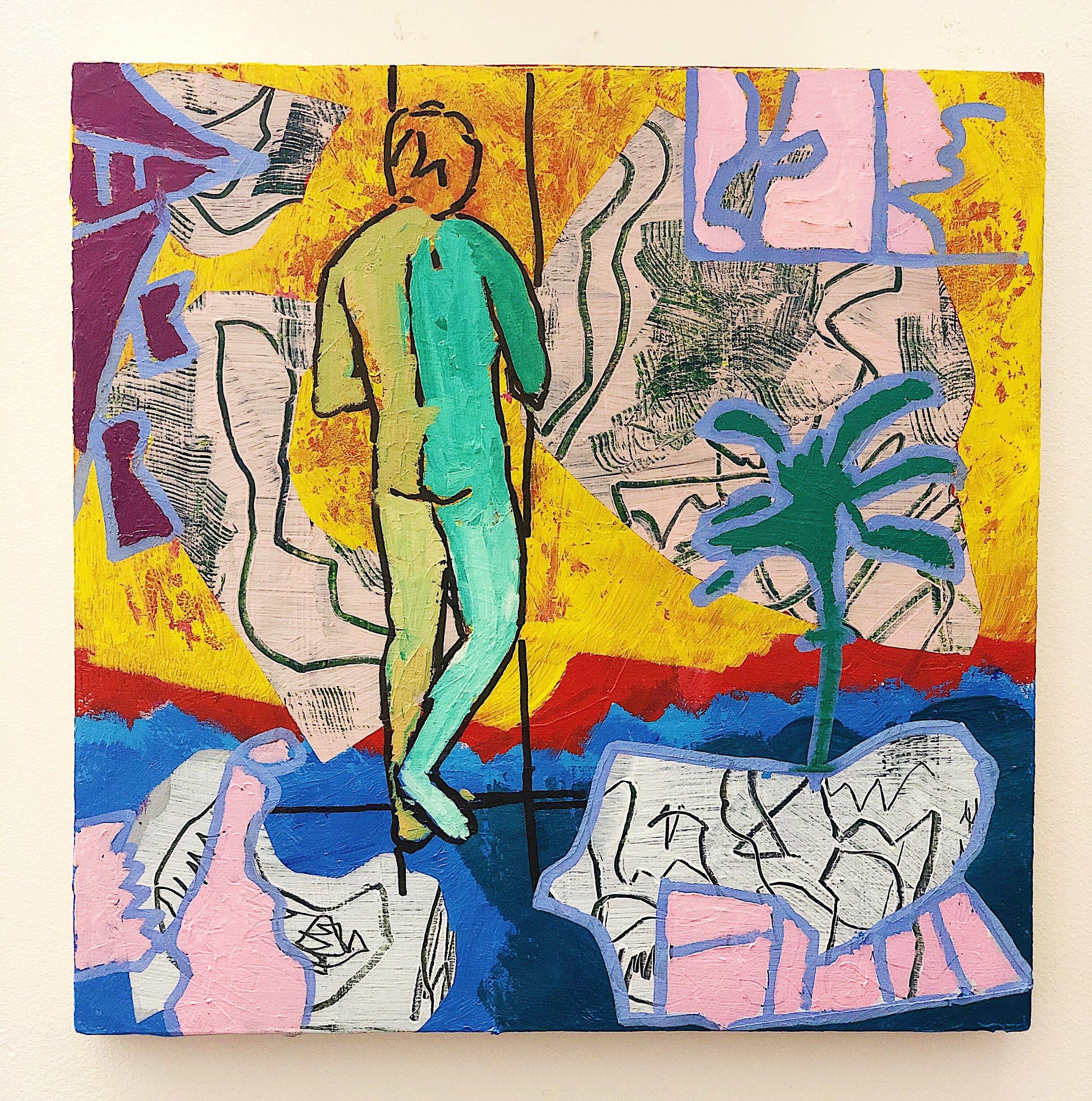 Green Harlequin at the Threshold  (2016)