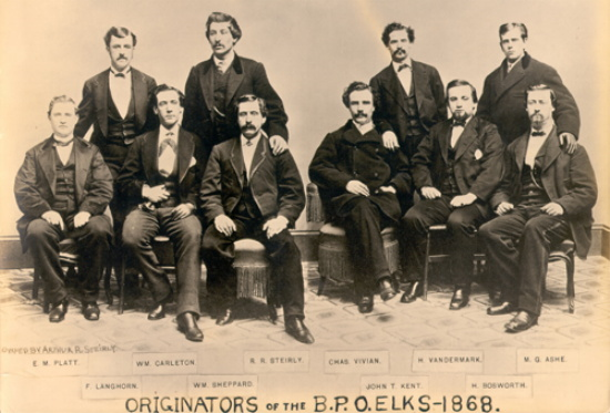 Our founders. From left to right E.M.Platt, F.Langhorn, W.M.Carleton, W.W Shepard, R.R.Stirely, Charles Vivian, John T.Kent, M. Vandermark, ? Bosworth, M.G. Ashe.