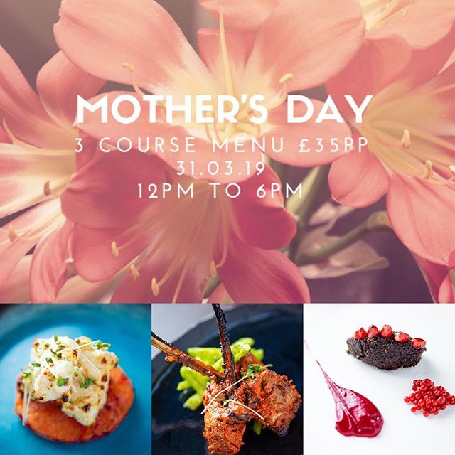 Mother's Day 3 Course Menu including a glass of Prosecco! Book online via our website. 31.03.19 12pm to 6pm. #cambridgefoodie #cambridge #atithi #atithicambridge #indianfood #millroadcambridge #cambridgerestaurants