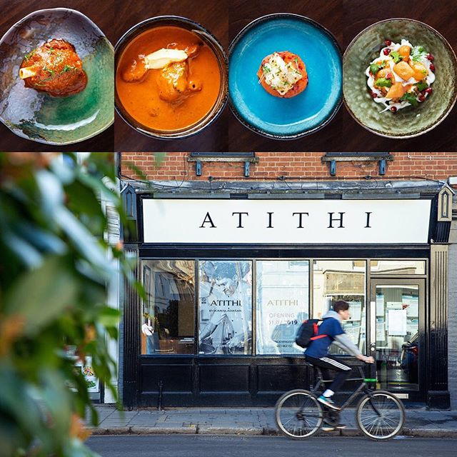 "The meaning of ""A T I T H I"" is ""GUEST"". Come and be our guest and enjoy a memorable evening with world class food and drink by award winning Indian head chef Kamaladasan.  #atithi #atithicambridge #cambridge #indianfood #cambridgefood #cambridgefoodie"