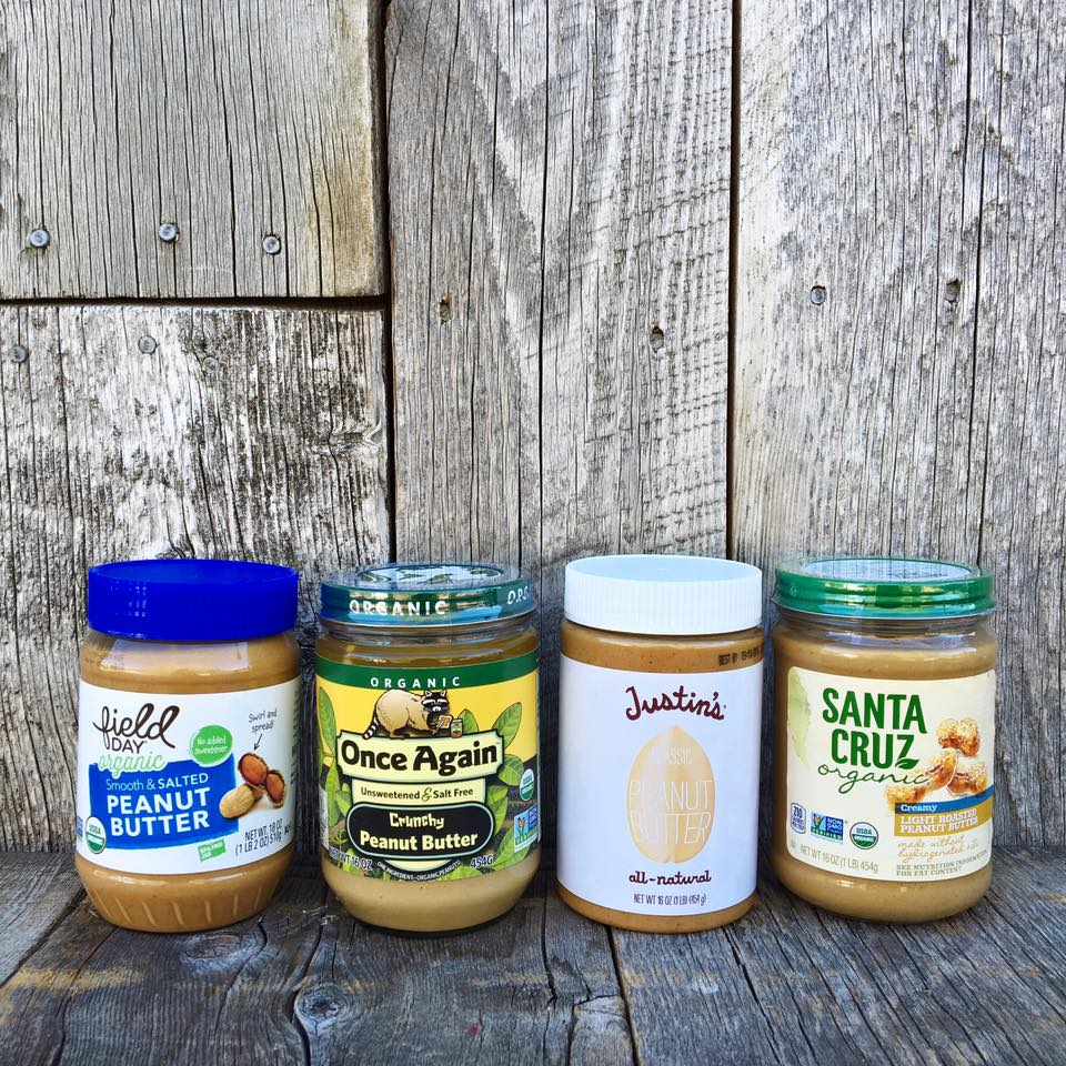 A picture of just some of the peanut butter options Vintage Market carries.jpg