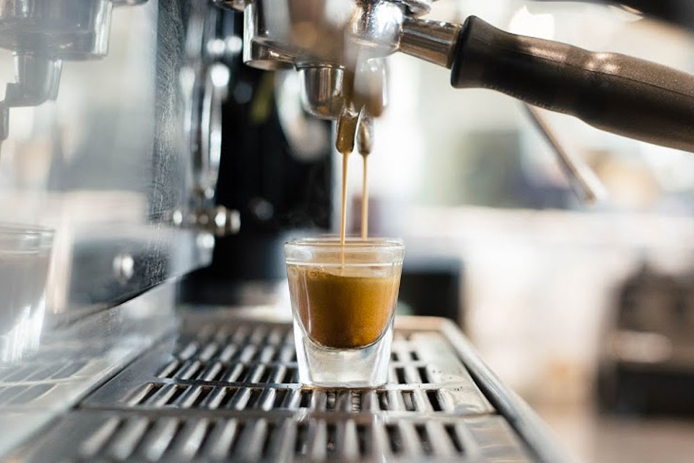A fresh brewed Espresso featuring locally roasted coffe beans from Groundwork.jpg