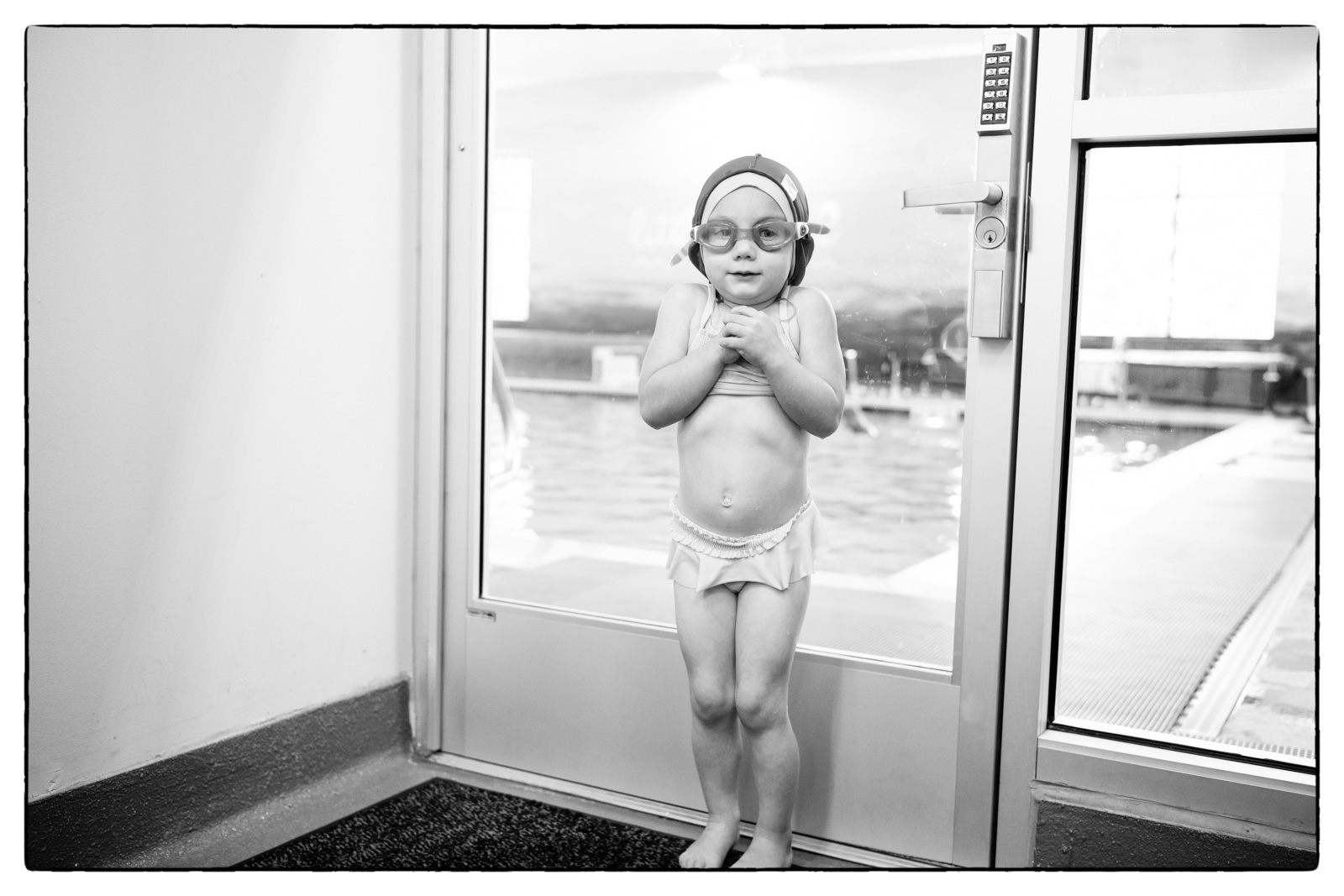 Izzy - First Day of Swimming Lessons - August 2019