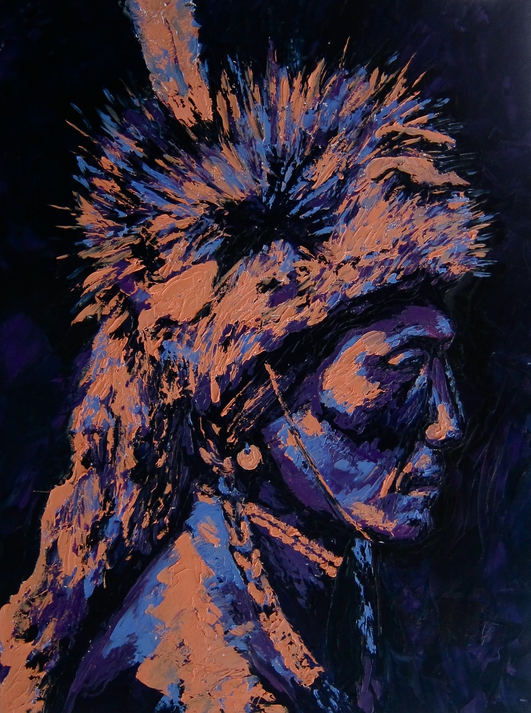 "PEIGAN HUNTER 30"" x 40"" - AVAILABLE"