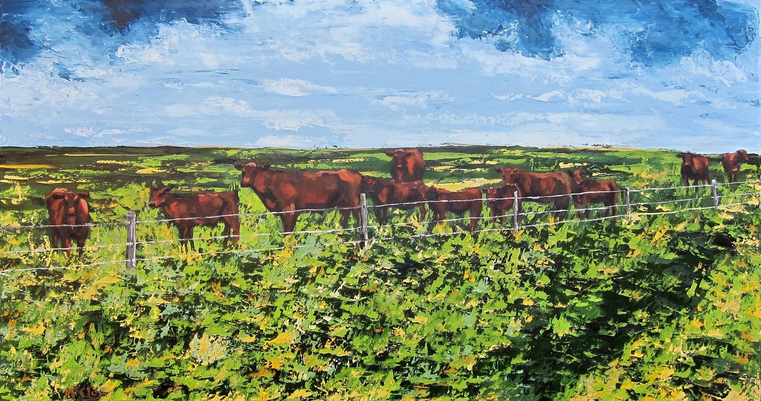 "SRRING.PASTURE 36"" X 72"" - AVAILABLE"