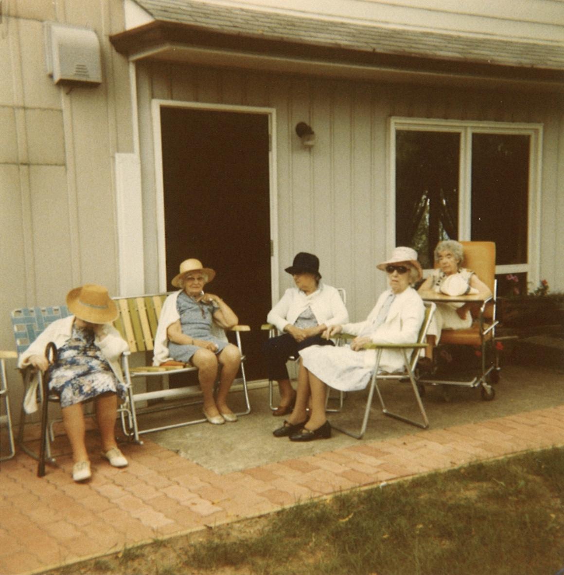 A few CAMA residents enjoying the outdoors, circa 1970.