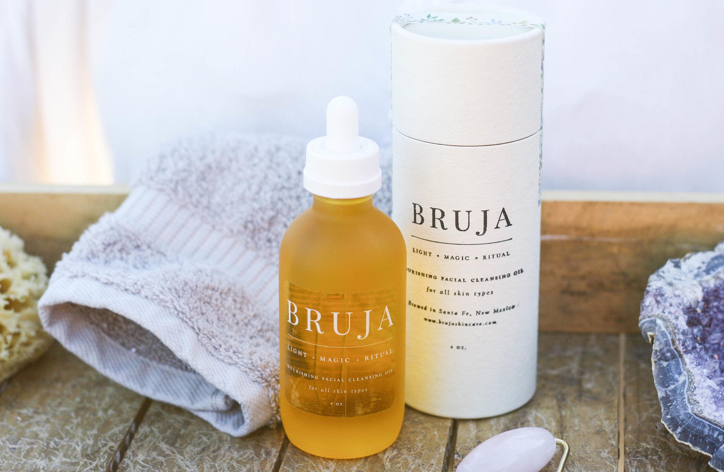 Bruja Skincare Logo Design + Packaging Consultation
