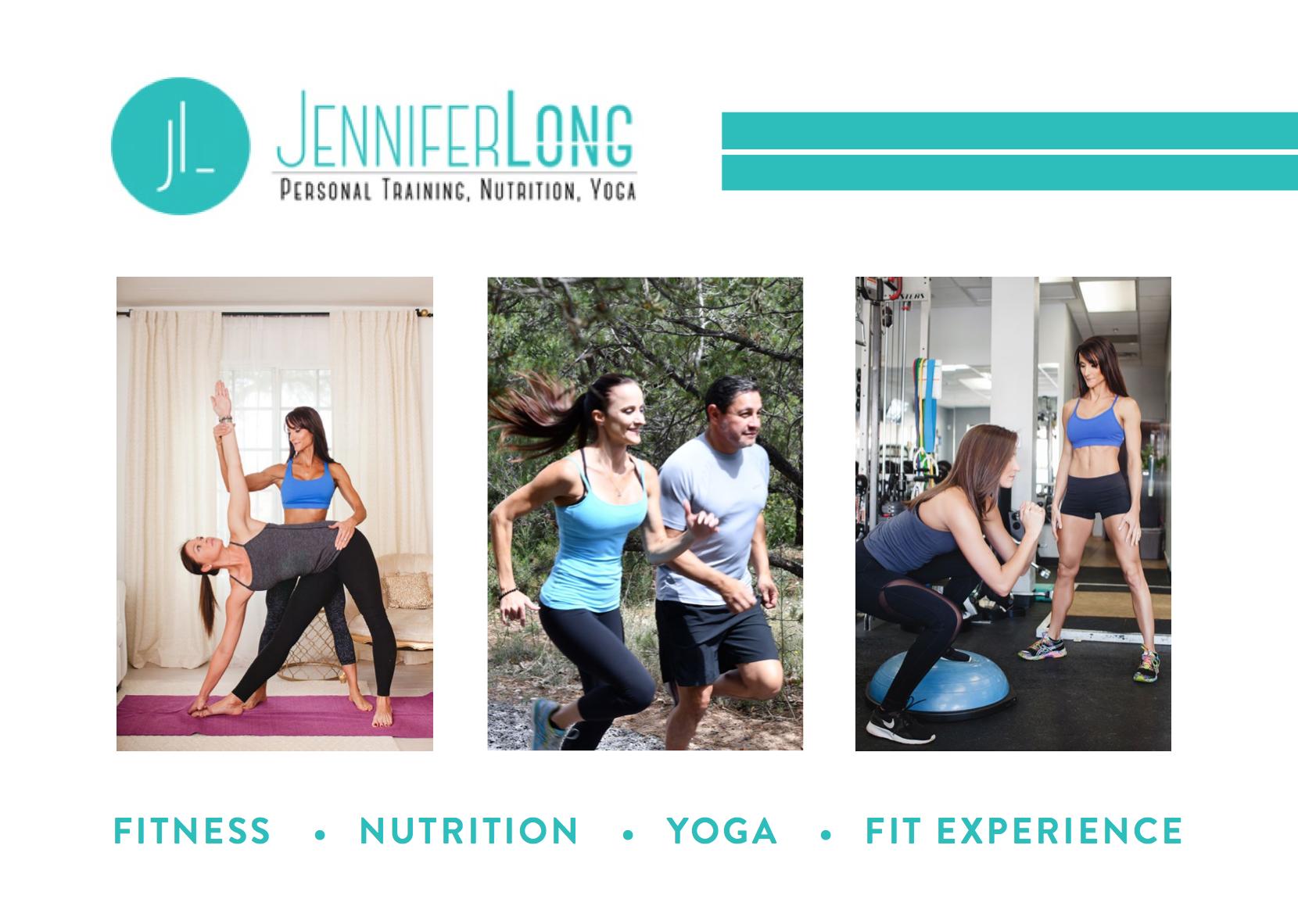 Jennifer Long Personal Trainer Flyer Design (Front)